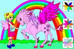 Раскраска Сара и ее пони